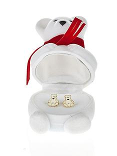love-gold-9-carat-yellow-gold-enamel-polar-bear-stud-earrings