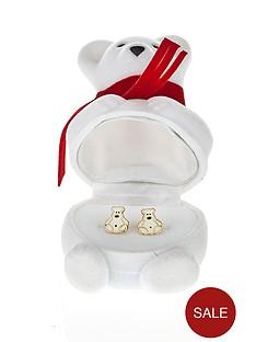 love-gold-9-carat-yellow-gold-enamel-polar-bear-stud-earrings
