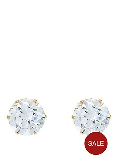 love-gem-9-carat-yellow-gold-4-mm-round-white-cubic-zirconia-stud-earrings