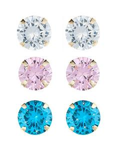 love-gem-9-carat-yellow-gold-set-of-3-cubic-zirconia-stud-4-mm-earrings