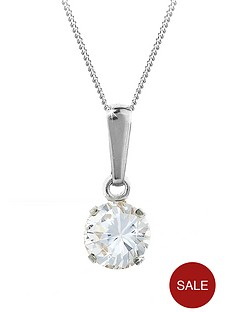 love-gem-9-carat-white-gold-6-mm-round-white-cubic-zirconia-pendant