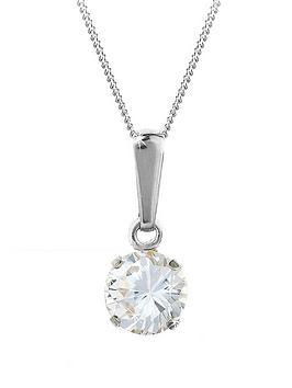 love-gem-9-carat-white-gold-6-mm-round-white-cubic-zirconia-pendant