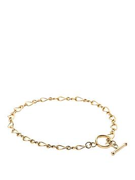 love-gold-9-carat-yellow-rolled-gold-figure-of-8-link-t-bar-bracelet
