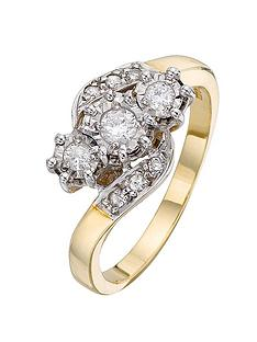 love-diamond-9-carat-yellow-gold-25-point-illusion-set-diamond-trilogy-ring-with-diamond-set-twist-shoulders