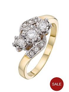 love-diamond-9-carat-yellow-gold-25-point-illusion-set-diamond-trilogy-ring-with-diamond-set-twist-shoulders