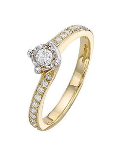 love-diamond-9-carat-yellow-gold-30-point-illusion-set-solitaire-ring-with-diamond-set-shoulders