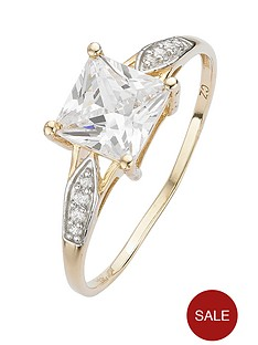 love-gem-9-carat-yellow-gold-square-cubic-zirconia-ring-with-cubic-zirconia-set-shoulders