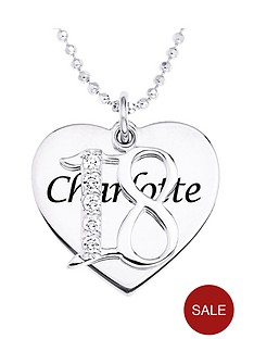 the-love-silver-collection-personalised-sterling-silver-coming-of-age-cubic-zirconia-set-pendant