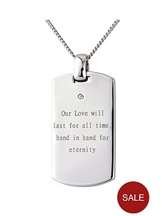 keepsafe-personalised-mens-sterling-silver-diamond-set-tag-pendant