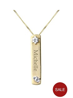 keepsafe-personalised-9-carat-yellow-gold-diamond-set-tag-pendant