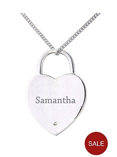 keepsafe-personalised-sterling-silver-diamond-set-padlock-heart-pendant