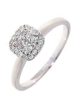 love-diamond-9-carat-white-gold-25-point-diamond-square-cluster-ring