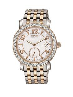 citizen-eco-drive-white-dial-stainless-steel-and-rose-gold-tone-ladies-watch
