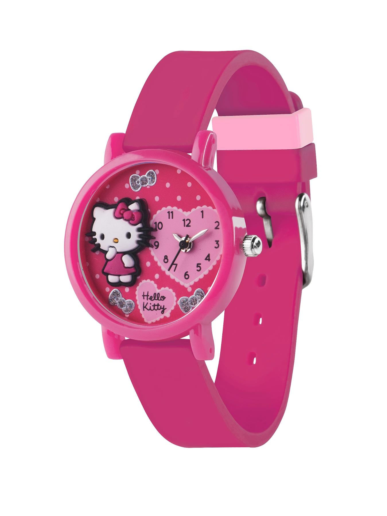 Pink Silicone Strap Childrens Watch at Littlewoods