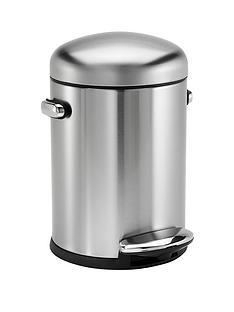 simplehuman-45-litre-retro-bin-brushed-steel