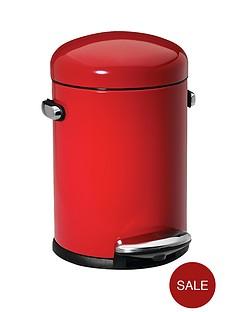 simplehuman-45-litre-retro-bin-red