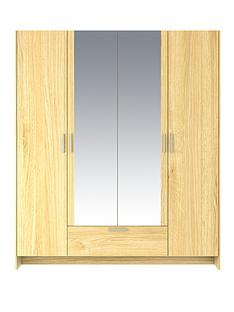 cambridge-4-door-1-drawer-mirrored-wardrobe