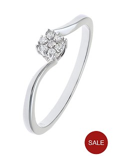 love-diamond-9-carat-white-gold-4-point-diamond-cluster-twist-ring