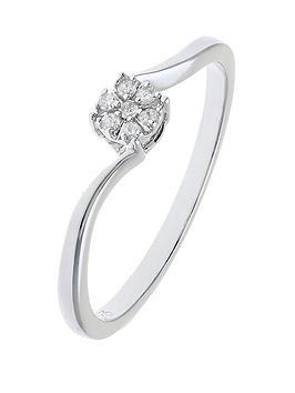 love-diamond-9-carat-white-gold-4-point-diamond-cluster-twist-ring
