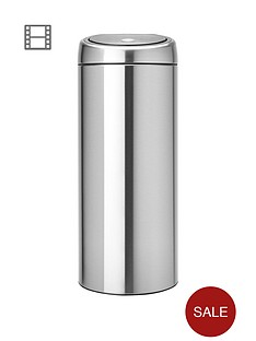 brabantia-30-litre-touch-bin-matt-steel