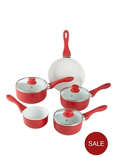 swan-5-piece-ceramic-aluminium-pan-set-red