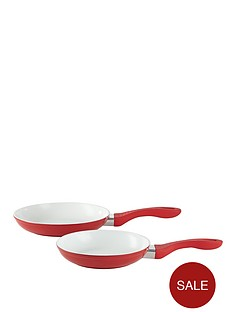 swan-ceramic-aluminium-frying-pan-set-red