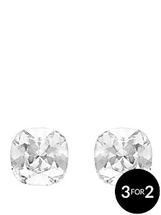 lola-and-grace-rhodium-plated-stone-set-square-earrings-with-swarovski-crystal