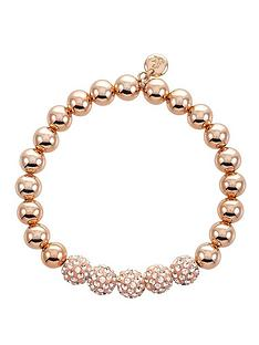 lola-and-grace-beaded-rose-gold-plated-sparkle-stretch-bracelet-with-swarovski-elements