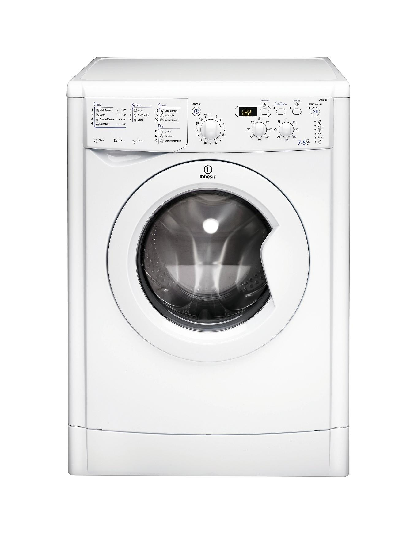 1200 Spin, 7+5kg Load Washer Dryer - White