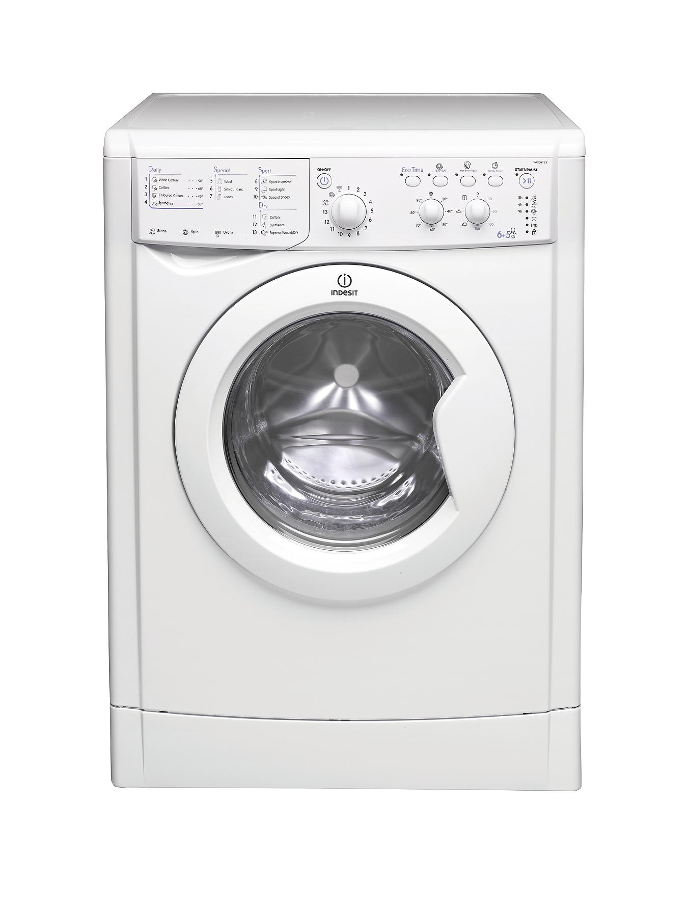 1200 Spin, 6+4kg Load Washer Dryer - White