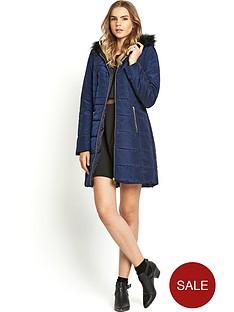 love-label-fur-hood-padded-coat