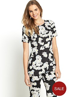 love-label-floral-boxy-top