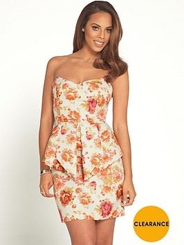 rochelle-humes-floral-jacquard-peplum-mini-dress