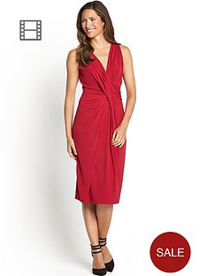savoir-ruched-wrap-dress-sleeveless