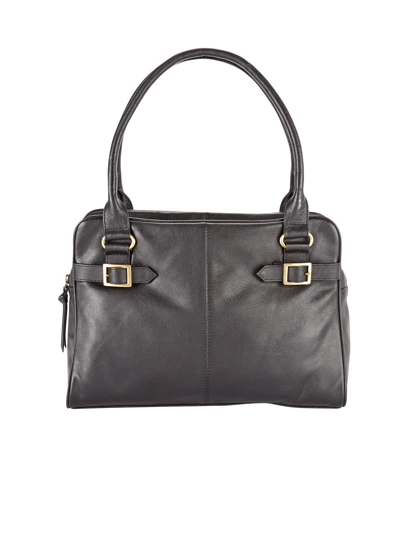 Lesley Leather Shoulder Bag, Black