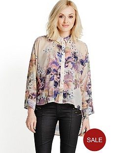 orchid-print-oversized-shirt