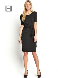 workwear-knot-front-dress