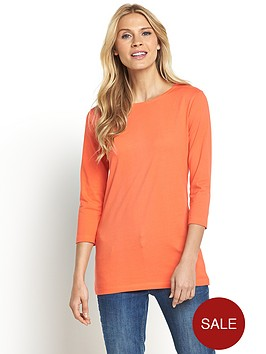 south-tall-three-quarter-sleeve-crew-neck-top
