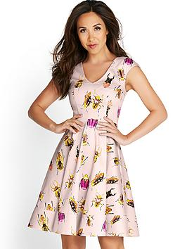 myleene-klass-bug-print-skater-dress