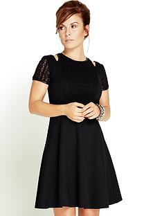 panelled-lace-skater-dress