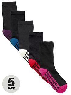 intimates-essentials-dogtooth-footbed-socks-5-pack