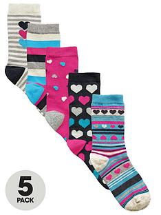 intimates-essentials-heart-patterned-socks-5-pack