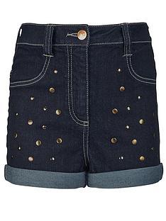 freespirit-girls-high-waisted-studded-shorts