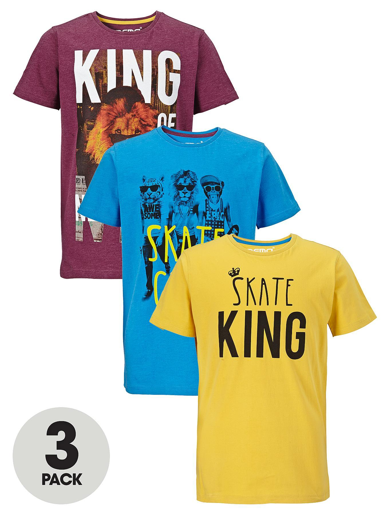 Boys Skate King T-shirts (3 Pack)