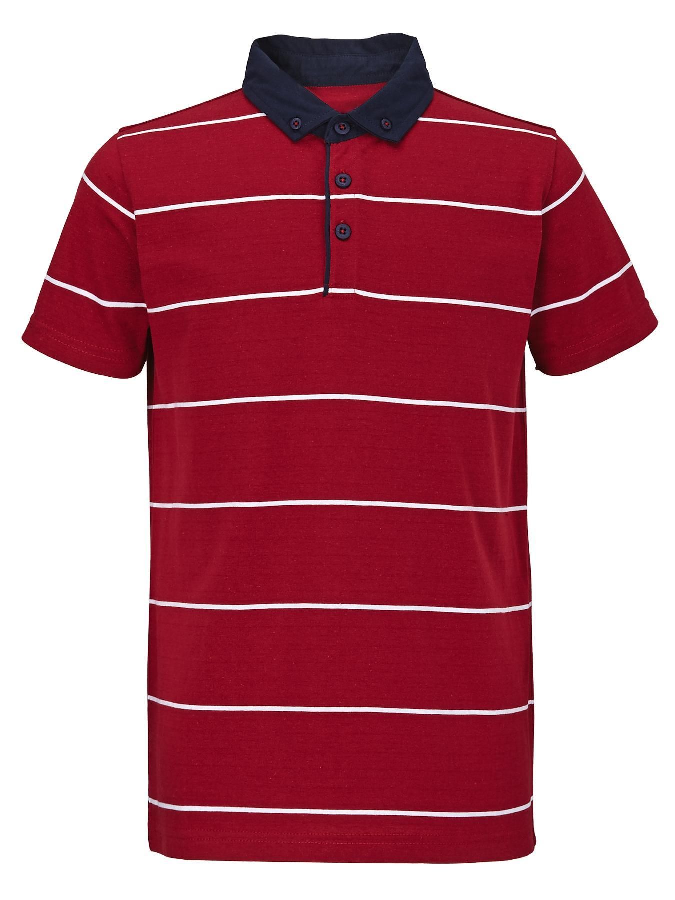 Boys Printed Jersey Polo Shirt