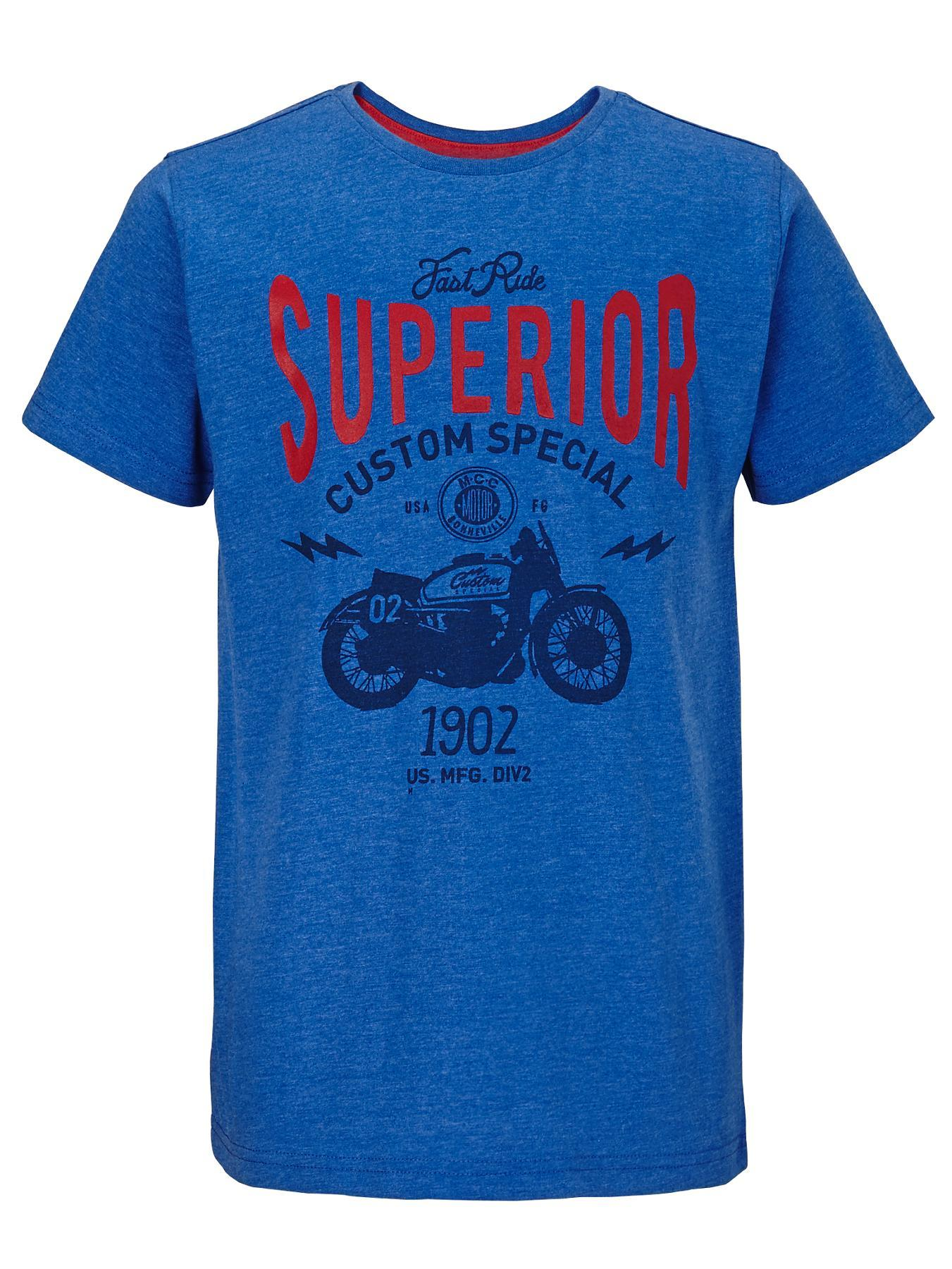 Boys Motorbike T-shirt, Blue