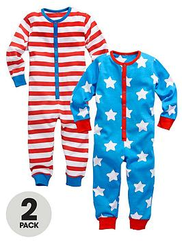 ladybird-boys-stars-and-stripe-all-in-ones-2-pack