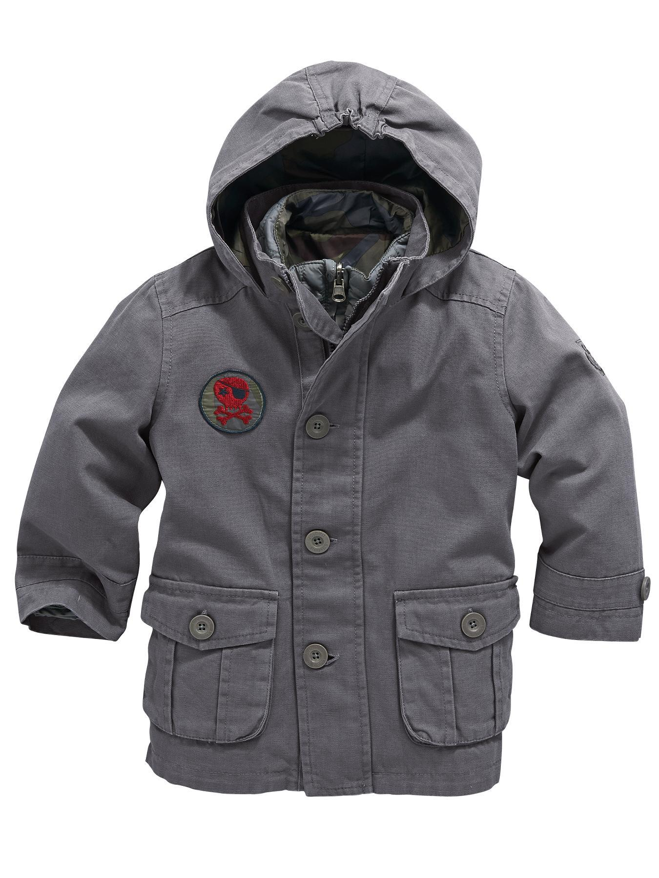 Boys 3-in-1 Coat, Grey