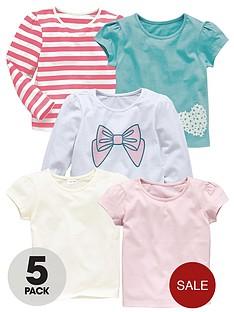 girls-5pk-bow-stripe-tees