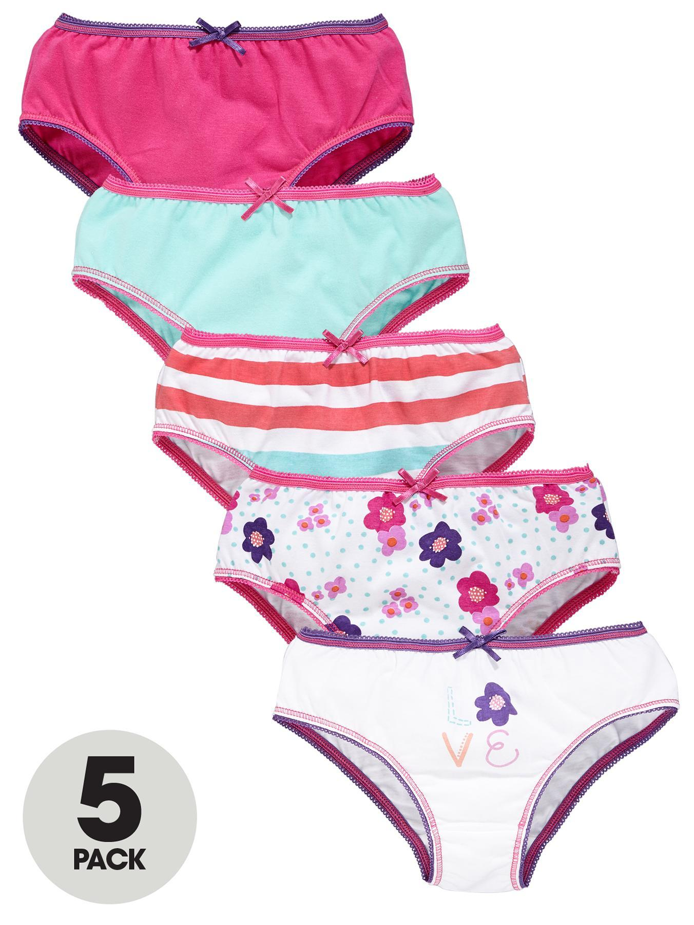 Girls Knickers (5 Pack).